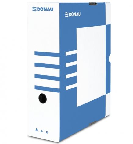 Бокс для архивации документов, 100 мм Donau 7661301PL-10 синий