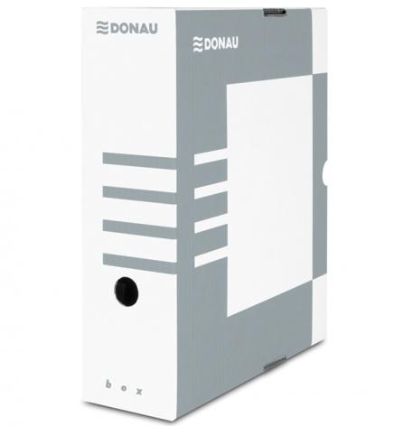 Бокс для архивации документов, 100 мм Donau 7661301PL-13 серый