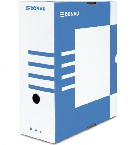 Бокс для архивации документов, 120 мм  Donau 7662301PL-10 синий