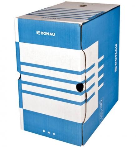 Бокс для архивации документов, 200 мм Donau 7663401PL-10 синий