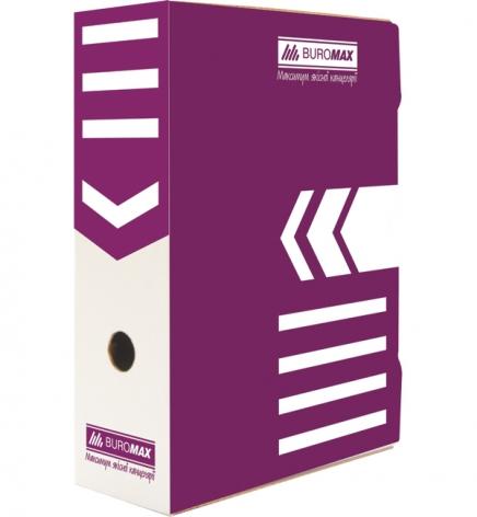 Бокс для архивации документов, ширина торца 100 мм Buromax BM.3261-07 фиолетовый