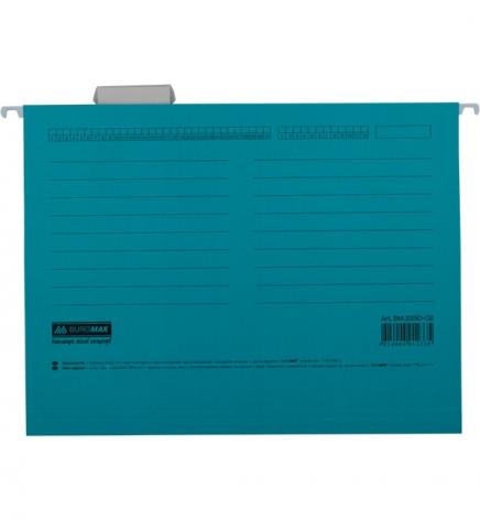 Файл картонный подвесной для картотеки А4 (320 мм х 240 мм) с индексом Buromax BM.3350-02 синий