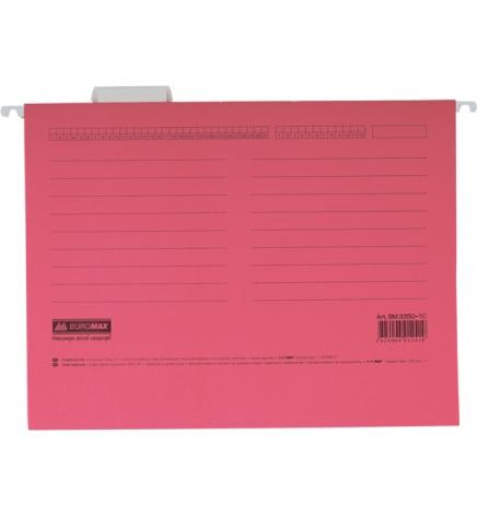 Файл картонный подвесной для картотеки А4 (320 мм х 240 мм) с индексом Buromax BM.3350-10 розовый