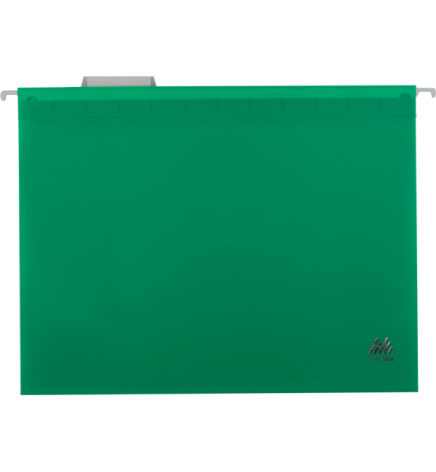 Файл пластиковый А4 (320 мм х 240 мм) подвесной с индексом для картотеки Buromax BM.3360-04 зеленый