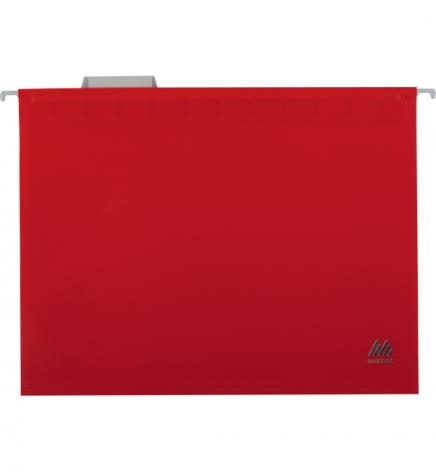 Файл пластиковый А4 (320 мм х 240 мм) подвесной с индексом для картотеки Buromax BM.3360-05 красный
