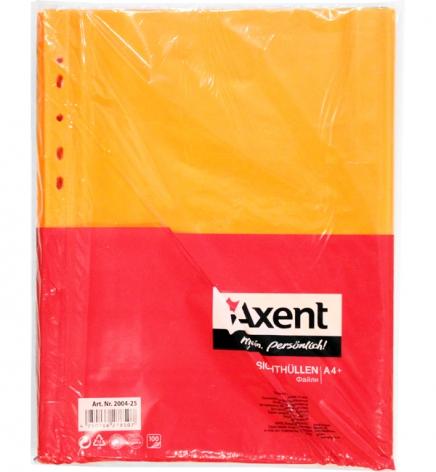Файлы А4, оранжевые, 40 мкм 100 шт./уп. AXENT 2004-25-А оранжевый