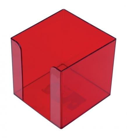 Бокс для бумаги 9 х 9 х 9 см Арника 83034 багряный