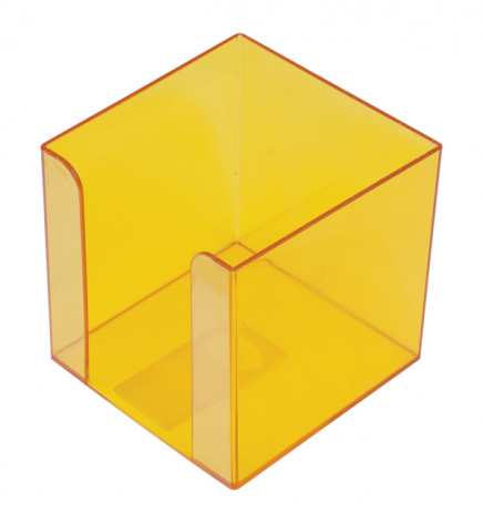 Бокс для бумаги 9 х 9 х 9 см Арника 83036 лимонный