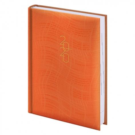Ежедневник карманный датированный BRUNNEN 2020 Wave оранжевы 73-736 76 40