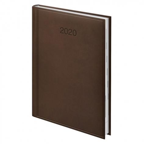 Ежедневник датированный BRUNNEN 2020 Стандарт Torino, коричневый 73-795 38 70