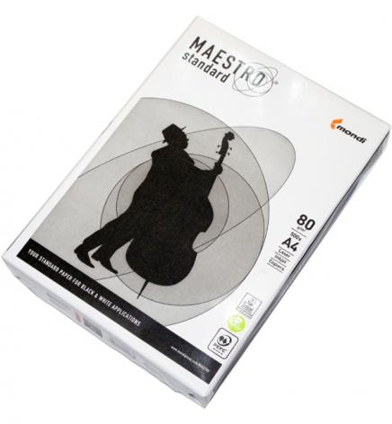 Бумага Maestro Standard А4 80г/м2, 500л цена за ящик 5 пачек