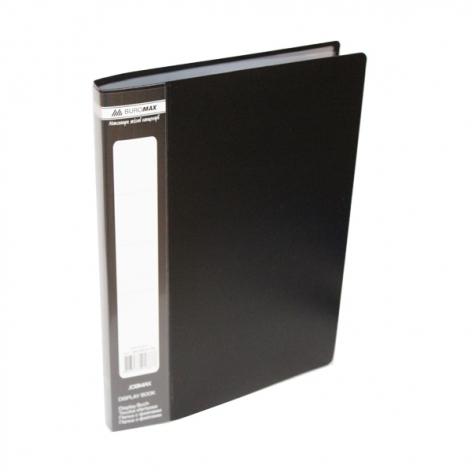 Папка пластиковая с 20 файлами А5 Buromax BM.3604-99 черный
