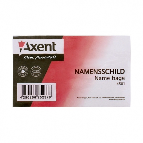 Бейдж идентификатор на шпильке с клипом AXENT 4501-A