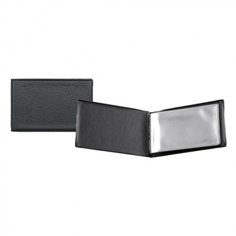 Визитница на 20 визиток, винил (115 мм х 70 мм) AXENT 2501-01-A черный