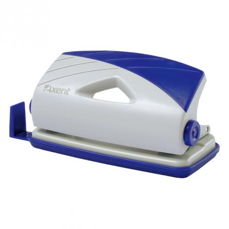 Дырокол на 10 л. пластиковый с линейкой Axent 3710-02-A серо-синий