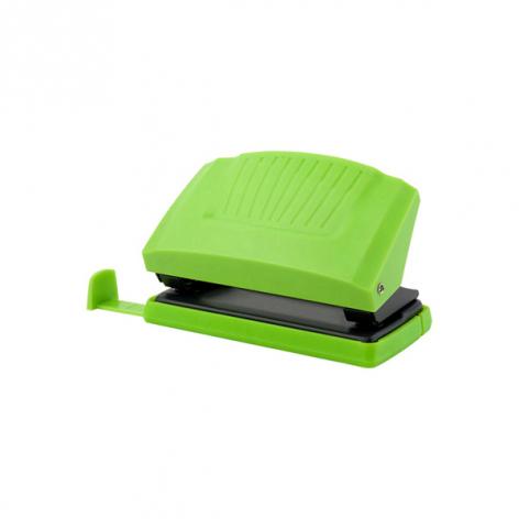 Дырокол на 10 л. пластиковый с линейкой  Shell Axent 3410-09-A салатовый