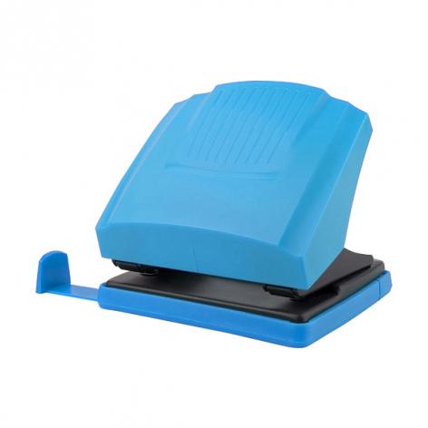 Дырокол на 30 л. пластиковый с линейкой  Shell Axent 3430-07-A голубой