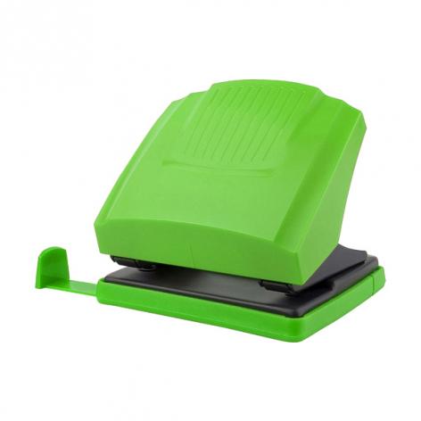 Дырокол на 30 л. пластиковый с линейкой  Shell Axent 3430-09-A салатовый