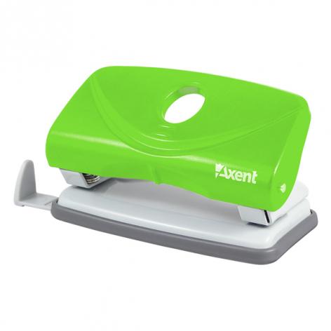 Дырокол на 10 л. пластиковый с линейкой  Welle-2 Axent 3811-09-A салатовый