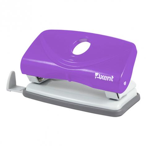 Дырокол на 10 л. пластиковый с линейкой  Welle-2 Axent 3811-11-A фиолетовый