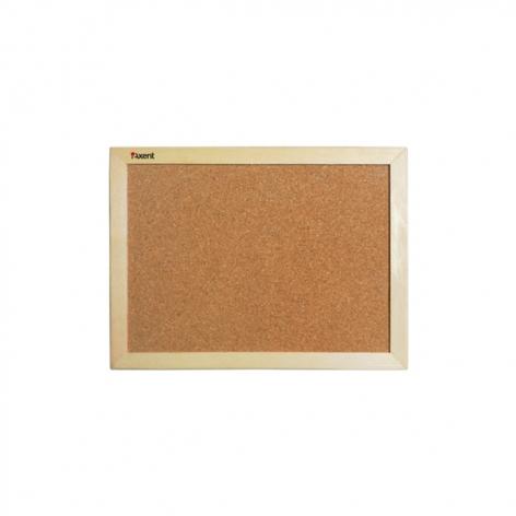 Доска пробковая, 45 x 60 см,  деревянная  рамка, Axent 9601-A
