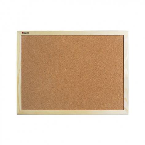 Доска пробковая, 60 x 90 см,  деревянная  рамка, Axent 9602-A