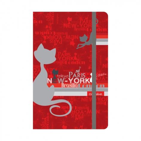 Записная книга Catsline A5 на 80 л. белый блок в клетку Axent 8401-17-А