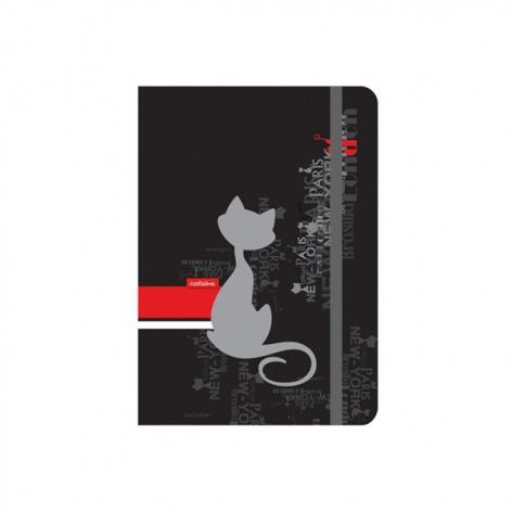 Записная книга Catsline A6, 80 листов, белый внутренний блок в клетку Axent 8402-17-A