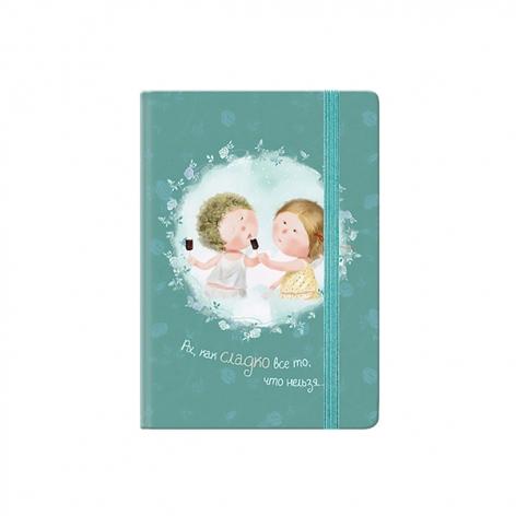 Записная книга A6, 80 листов, белый внутренний блок в клетку Gapchinska GP-20 Axent 8402-20-A