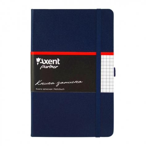 Записная книга Partner  А5-(125х195мм) на 96 листов кремовый блок в клетку Axent 8201-02-A синий