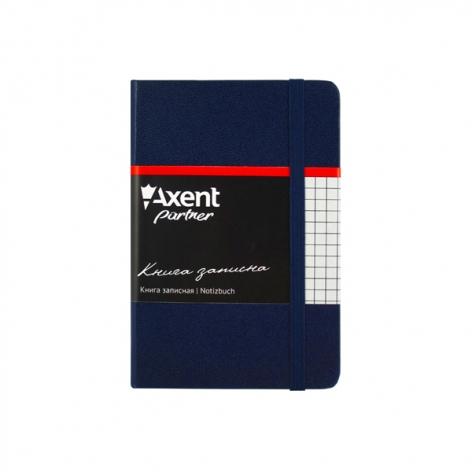 Записная книга Partner В6-(95х140мм) на 96 листов кремовый блок в клетку Axent 8301-02-A синий