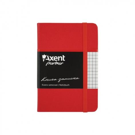 Записная книга Partner В6-(95х140мм) на 96 листов кремовый блок в клетку Axent 8301-03-A красный