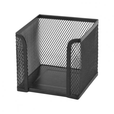 Бокс для бумаги 100 х 100 x 100 мм, металлический, Axent 2112-01-A черный