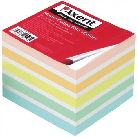 Блок цветной бумаги для записей Elite Color 9 х 9 х 7 см, не склеенный Axent 8028-А