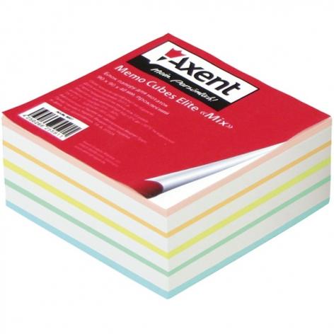Блок бумаги для записей Elite Mix 9 х 9 х 4 см, не склеенный Axent 8016-А