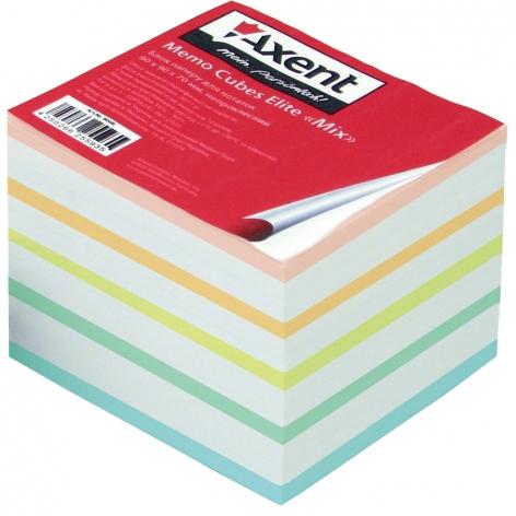 Блок бумаги для записей Elite Mix 9 х 9 х 7 см, не склеенный Axent 8018-А