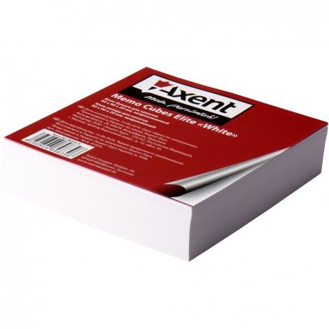 Блок белой бумаги для записей Elite White 9 х 9 х 2 см, не склеенный Axent 8004-А