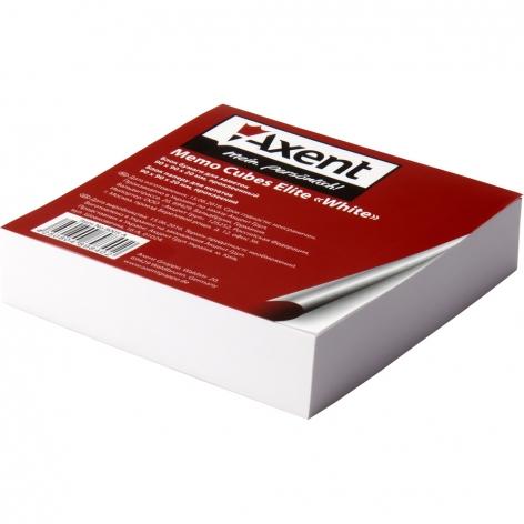 Блок белой бумаги для записей Elite White 9 х 9 х 2 см, склеенный Axent 8005-А