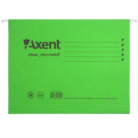 Файл картонный подвесной А4 (315 мм х 240 мм) с индексом Axent 1310-25-A зеленый