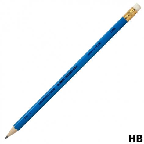 Карандаш графитный твердомягкий HB с ластиком, Koh-i-noor 1396/1