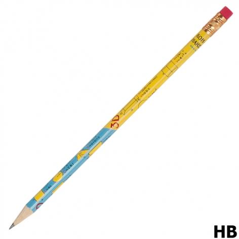 Карандаш графитный твердомягкий HB с ластиком, Геометрические формулы Koh-i-noor 1231/6