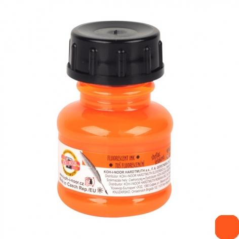 Тушь художественная 20 г Koh-i-noor 141790101LP оранжевый флуоресцентный