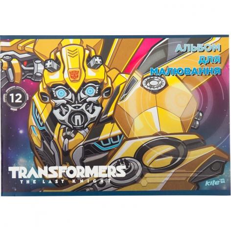 Альбом для рисования 12 листов А4 на скобе Kite Transformers TF17-241