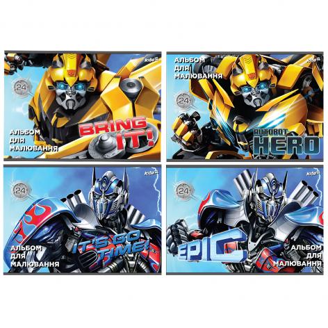 Альбом для рисования Transformers 24 листа скоба Kite TF17-242
