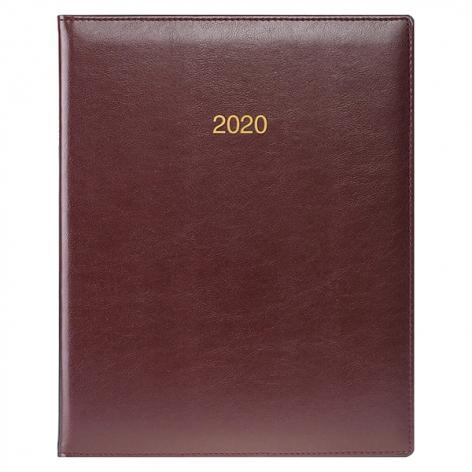 Еженедельник датированный BRUNNEN 2020 Бюро Soft, бордовый, артикул 73-761 36 29 код 43031