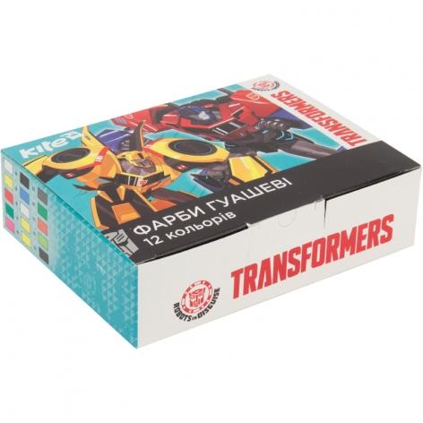 Гуашь 12 цветов по 20 мл KITE Transformers TF17-063