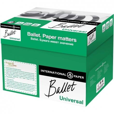Бумага BALLET UNIVERSAL А4 80г/м2, 500л  цена за ящик 5 пачек