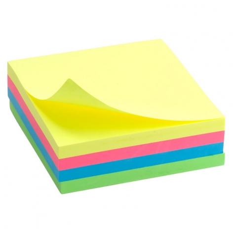 Блок бумаги с липким слоем 75x75 мм, 250 листов, неоновые цвета Delta by Axent  D3351
