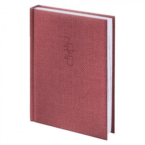Ежедневник карманный датированный BRUNNEN 2020 Tweed красный 73-736 31 20