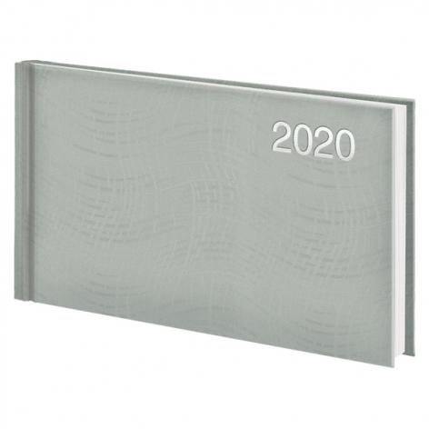 Еженедельник карманный датированный BRUNNEN 2020 Wave, серебряный, артикул 73-755 76 92 код 43228